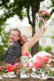 Wedding - pares felizes fotografia de stock royalty free