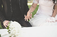 Wedding particular and bouquest Royalty Free Stock Photos