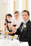 Wedding party at dinner royalty free stock photography