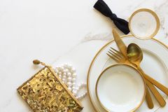 Wedding party essentials Stock Images