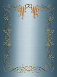 Wedding or Party Invitation Blue 3D Stock Images