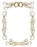 Wedding or Party Invitation gold Border