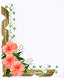 Wedding or Party Invitation Hibiscus royalty free illustration