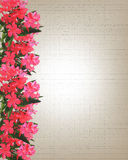 Wedding or Party Invitation oleander watercolor Stock Photos