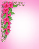 Wedding or Party Invitation Pink floral Stock Photos