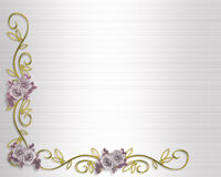 Wedding or Party invitation Roses royalty free stock photography