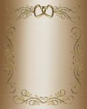 Wedding or Party Invitation Satin Royalty Free Stock Image