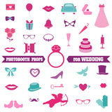 Wedding Party Set - Photobooth Props Stock Photo