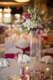 Wedding party table Stock Image