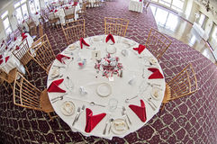 Wedding party table Stock Photo