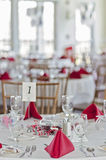 Wedding party tables Stock Photo