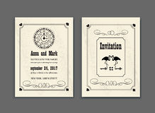Wedding Party in Wonderland. Save the date invitation Alice in Wonderland theme. vector template for wedding or birthday Royalty Free Stock Photography