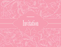 Wedding pastel card Stock Photography