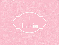 Wedding pastel card Royalty Free Stock Image