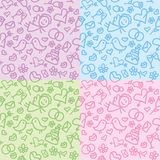 Wedding patterns set Stock Photo