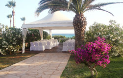Wedding pavilion on the beach Royalty Free Stock Photos