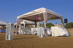 Wedding pavilion on a beach Royalty Free Stock Image