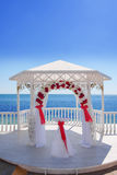 Wedding pavilion by the sea Royalty Free Stock Photography