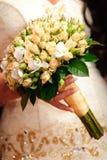 Wedding peach-coloured bouquet Stock Image