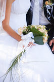 Wedding peach-coloured bouquet Royalty Free Stock Images