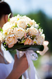 Wedding peach-coloured bouquet Stock Image