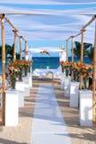 Wedding pelo mar foto de stock royalty free