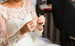 Wedding pendant Stock Photo