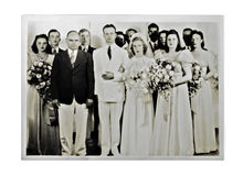 Wedding Photo 1940 Royalty Free Stock Photo