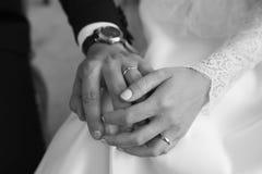 Wedding hands. Wedding photo of the bouchet pink h stock photography