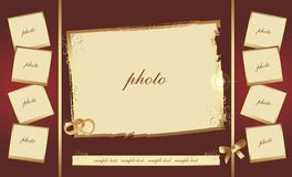 Wedding photo frame Royalty Free Stock Photography