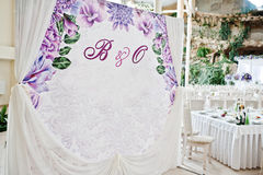 Wedding photo frame or banner for guests. Stock Photos