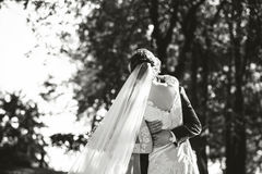 Wedding photo,  happy bride and groom together Royalty Free Stock Photos
