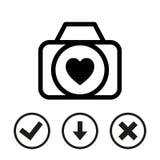 Wedding photo icon stock vector illustration flat design Stock Photo