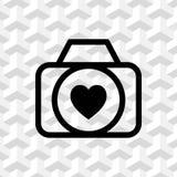 Wedding photo icon stock vector illustration flat design Stock Image