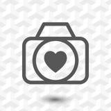 Wedding photo icon stock vector illustration flat design Royalty Free Stock Image