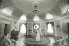 Wedding photo in mansion Stock Photography