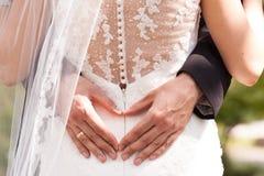 Wedding photo session detail moment Stock Photo