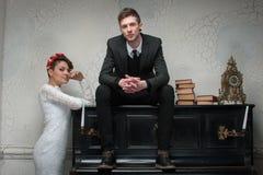 Wedding photo session in the Studio Stock Image