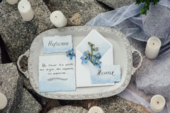 Wedding photo zone. decoration. Stock Images