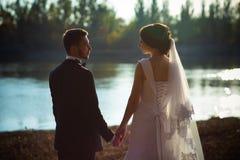 Wedding photography is very beautiful couple Stock Photos