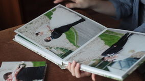 Wedding photos in photobook