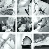 Wedding photos set Stock Photography