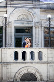 Wedding photosession of bride and groom Stock Photo