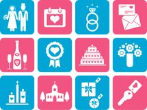 Wedding pictograms Royalty Free Stock Photography