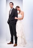 Wedding picture. Studio shot, wedding picture of beautiful couple in love royalty free stock photos