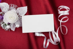 Wedding picture with a  card for your text Royalty Free Stock Photography