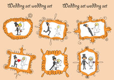 Wedding pictures, vector Royalty Free Stock Photos