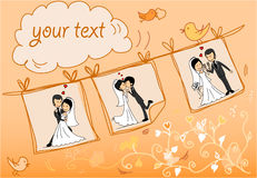 Wedding pictures,vector Royalty Free Stock Photos
