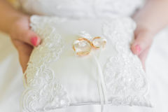 Wedding pillow Royalty Free Stock Photos