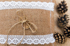 Wedding pillow Stock Images
